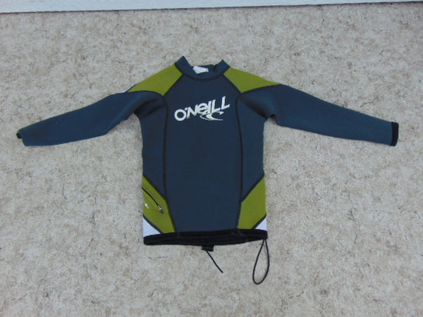 Wetsuit Child Size 10 Full Shirt O'Neill Grey Blue With Draw String Waist 2-3 mm As New