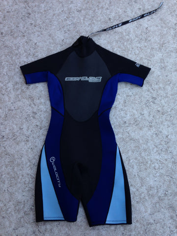Wetsuit Ladies Size 7-8 Body Glove 2-3 mm Neoprene Black Blue New Demo Model