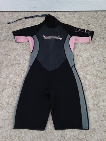 Wetsuit Ladies Size 11-12 Sea Doo Pink Black Grey 2-3 mm Surf Ski Excellent