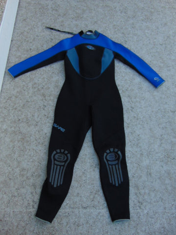 Wetsuit Child Size 16 Bare 1 Pc Full 2-3 mm Neoprene Black and Blue Excellent Quality