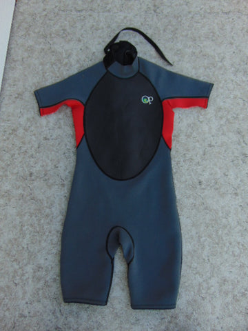 Wetsuit Child Size 14 Ocean Pacific Grey Red 2-3 mm Neoprene New Demo Model
