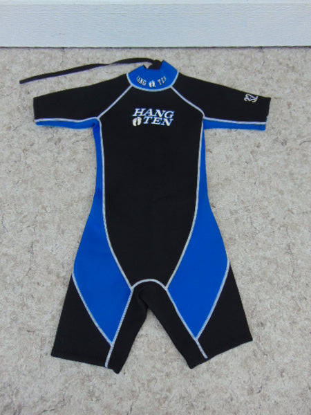 Wetsuit Child Size 10-12 Hang Ten Black Blue 2-3 mm Neoprene Excellent