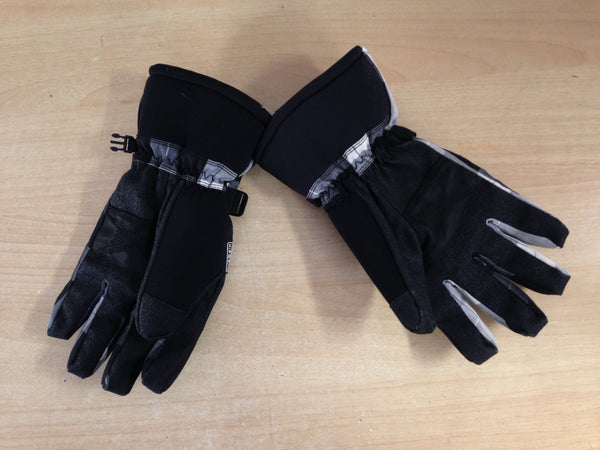 Winter Gloves and Mitts Men's Size Medium Ripzone Black Grey Snowboarding Excellent