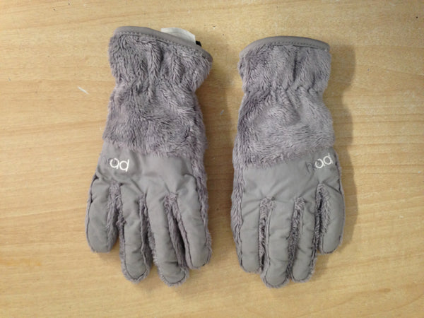 Winter Gloves and Mitts Child Size 9-10 Head Plush Grey Snowboarding