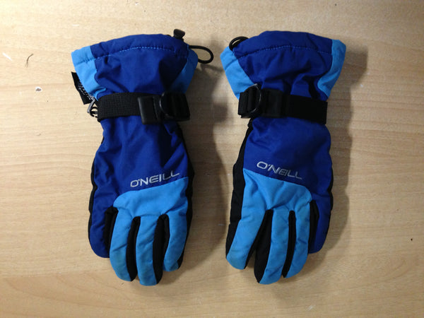 Winter Gloves and Mitts Child Size 7-9 O'neill Blue Black Excellent Snowboarding