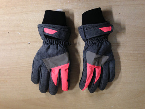 Winter Gloves and Mitts Child Size 10-12 Grey Coral Excellent