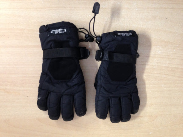 Winter Gloves and Mitts Child Size 10-12 Auclair Skipdry Waterproof Black Snowboarding