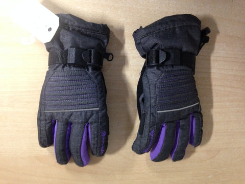 Winter Gloves and Mitts Child Size 12-14 Outbound Waterproof Grey Purple Excellent