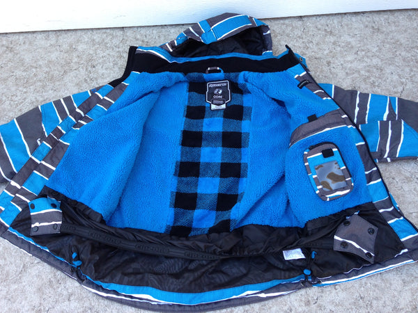 Winter Coat Child Size 14-16 Youth Ripxone Snowboarding Blue Grey With Snow Belt New Demo Model