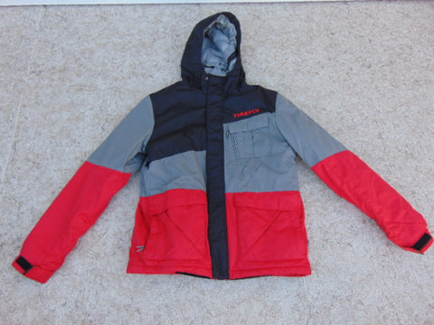 Winter Coat Child Size 10-12 FireFly Red Grey Black With Snow Belt Snowboarding Excellent