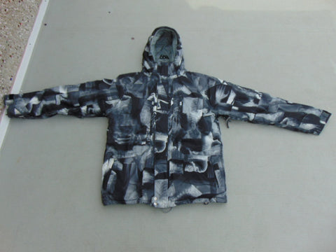 Winter Coat Men's Size X Large 686 Snowboarding With Snow Belt Fantastic Quality Black Grey Excellent