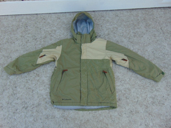 Winter Coat Child Size 10-12 Columbia Sage With Snow Belt Snowboarding