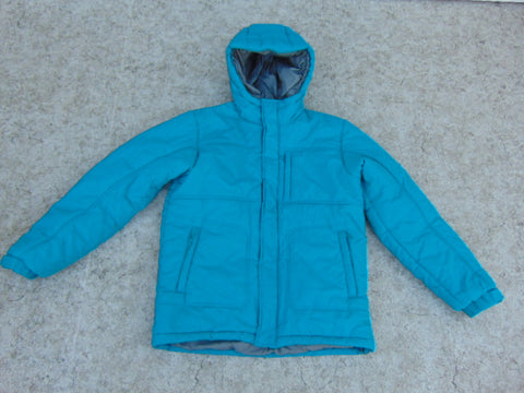 Winter Coat Child Size 14 MEC Parka  Teal Grey Excellent