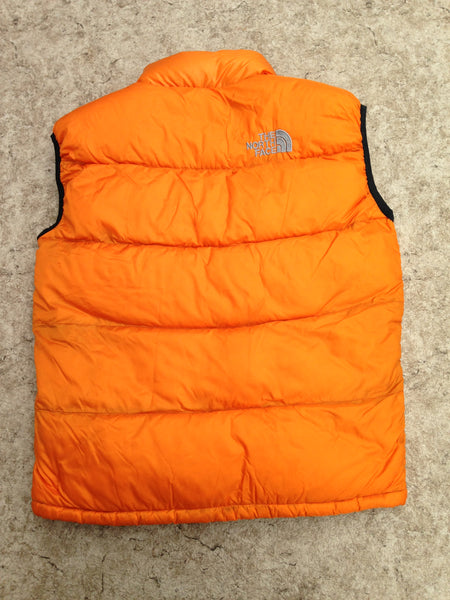 Winter Coat Vest Men's Size Medium The North Face Pumpkin Black