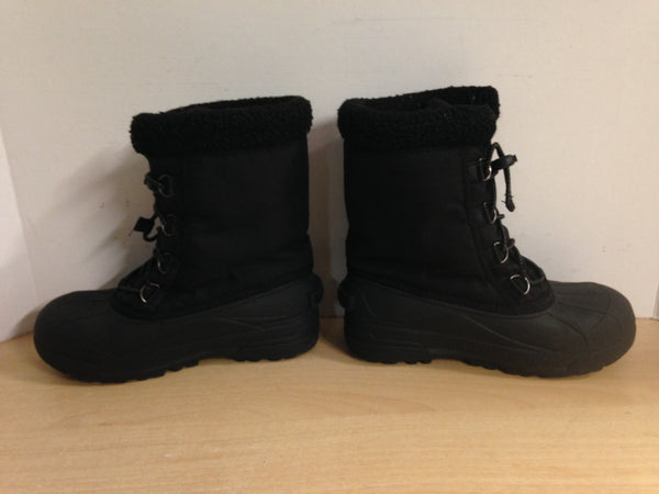 Winter Boots Child Size 4 Sorel Black Excellent
