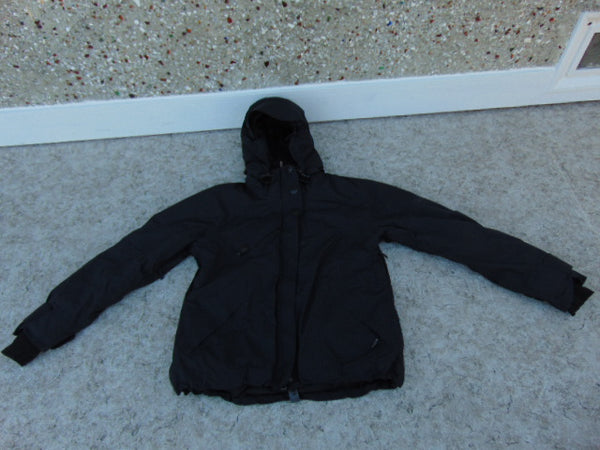 Winter Coat Ladies Size Large Columbia Black Snowboarding with Snow Belt Excellent