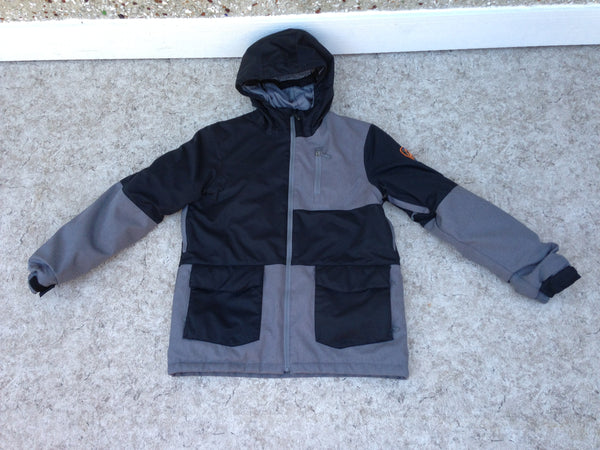 Winter Coat Child Size 14-16 Firefly Grey Black Snow Belt Snowboarding New Demo Model