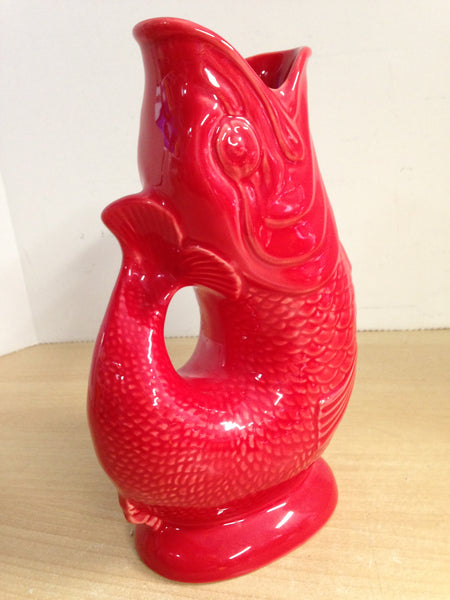 Wade Gluggle Jug As New Red Outstanding