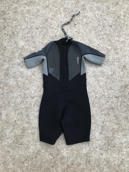 Wetsuit Child Size 12 Oneill Black Grey 2-3 mm Neoprene Excellent