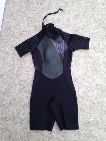 Wetsuit Ladies Size 5-6 HO Black Purple 2-3 mm Neoprene Excellent