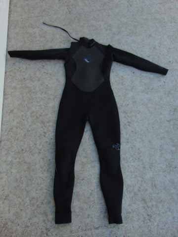 Wetsuit Ladies Size 10 Excel 1 Pc Full 4-3 mm Neoprene Black and Blue Fantastic Quality