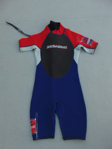 Wetsuit Child Size 10 Body Glove Red Blue Neoprene 2-3 mm New Demo Model