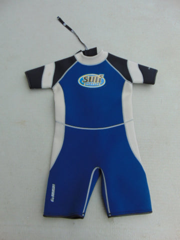 Wetsuit Child Size 14 Surf Paradise 2-3 mm Neoprene Blue Grey Small Mark
