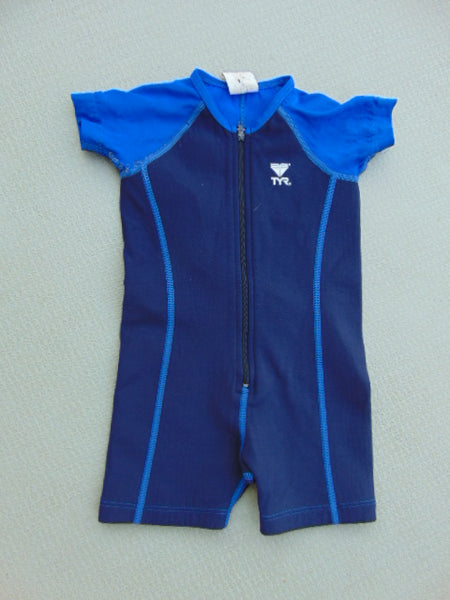 Wetsuit Child Size 2 With UV Ray Arms TYR Rose and Multi 1-2 mm Minor Wear