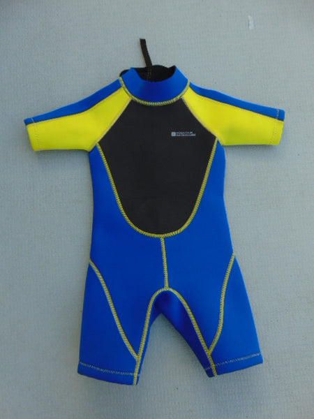 Wetsuit Child Size 3-4 Mountain Warehouse Neoprene 2-3 mm Blue Yellow
