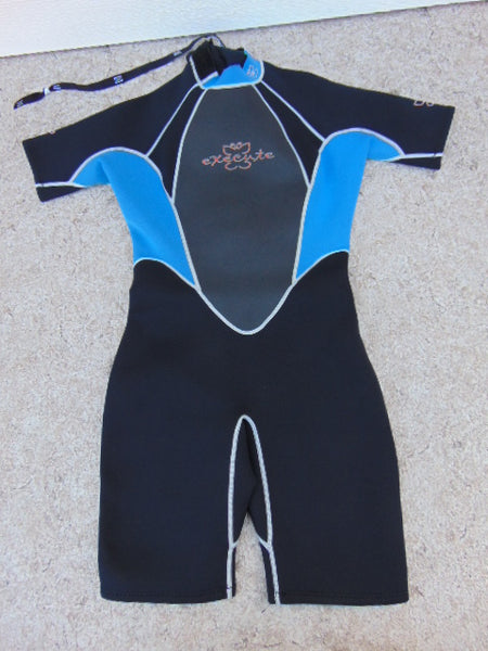 Wetsuit Ladies Size 12-14 Execute Aqua Blue Black 2-3 mm Neoprene