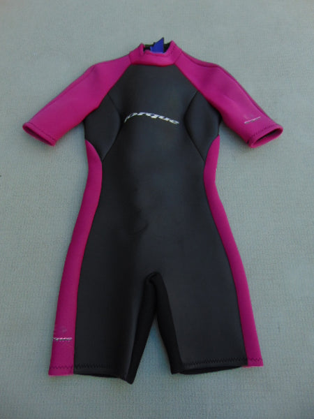 Wetsuit Ladies Size 12 Torque 2-3 mm Neoprene Black Fushia