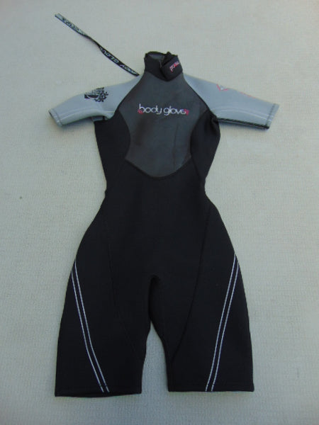 Wetsuit Ladies Size 3-4 Body Glove 2-3 mm Neoprene Black Grey Pink Nice