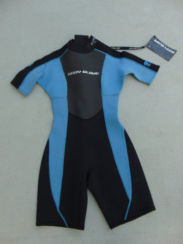 Wetsuit Ladies Size 7-8 Body Glove 2-3 mm Neoprene Blue Black New With Tag As Is Mark