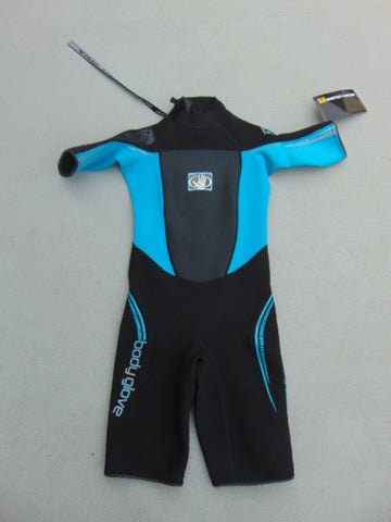 Wetsuit Ladies Size 7-8 Body Glove Black Teal New With Tags 2-3mm Neoprene Surf Dive Snorkel