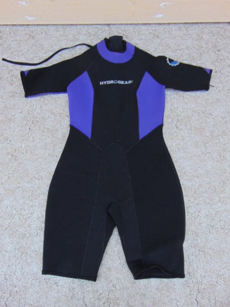 Wetsuit Ladies Size Large 12-14 HydroGear USA 3.0 mm Neoprene Black Purple Excellent