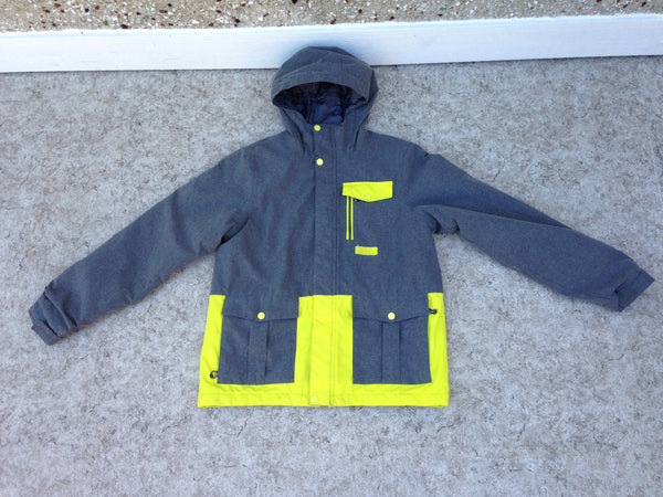 Winter Coat Child Size 14-16 Firefly Grey Lime Snow Belt Snowboarding New Demo Model
