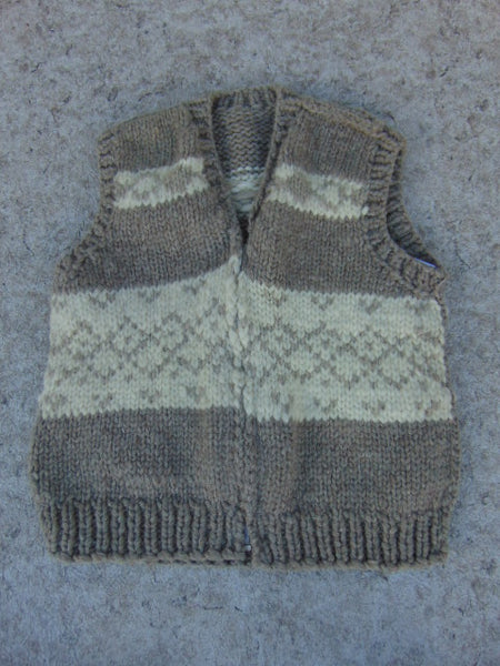 Winter Coat Ladies Size Large Native Indian Wool Sweater Vest Excellent