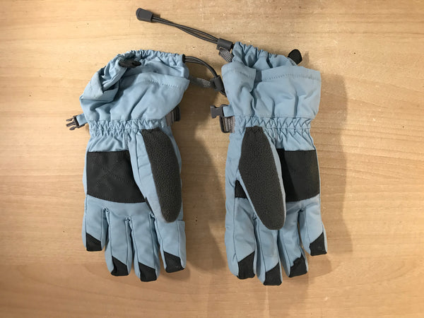 Winter Gloves and Mitts Child Size 10-12 Head Blue Grey Excellent
