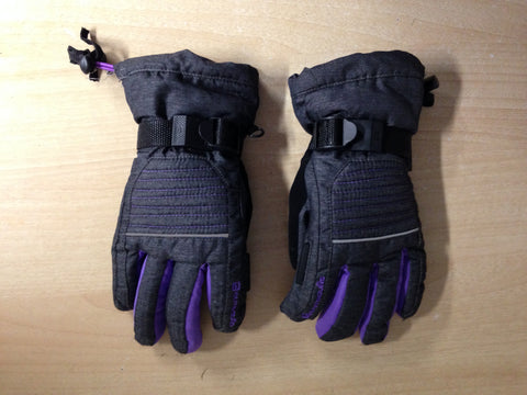 Winter Gloves and Mitts Child Size 12-14 Beck Tech Dark Grey Purple Excellent