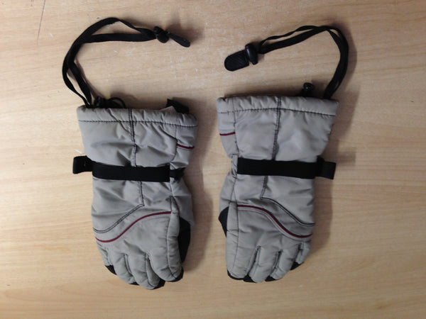 Winter Gloves and Mitts Child Size 14-16 Dead Cow Grey Black