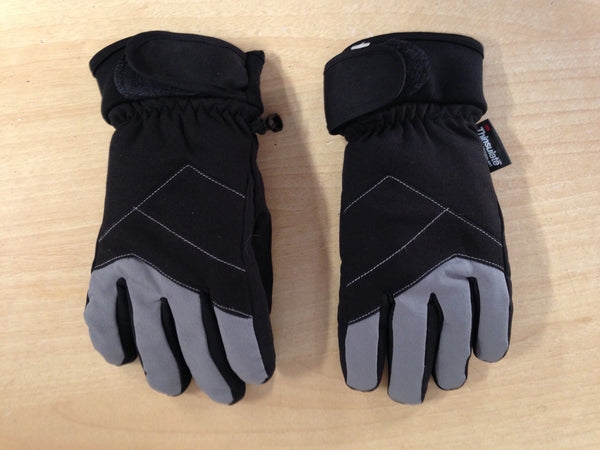 Winter Gloves and Mitts Child Size 6-8  Black Minor Wear