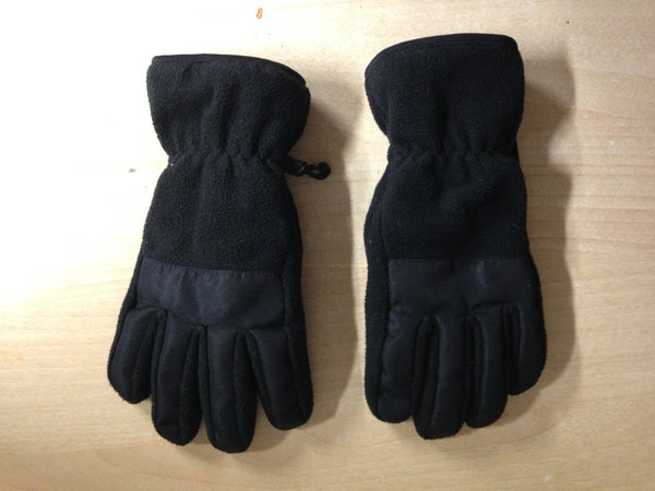 Winter Gloves and Mitts Child Size 8-12 Black Fleece Excellent