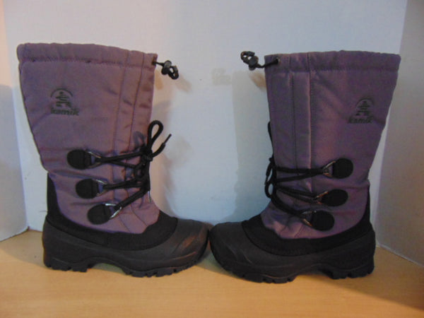Winter Boots Child Size 5 Kamik Purple With Liner