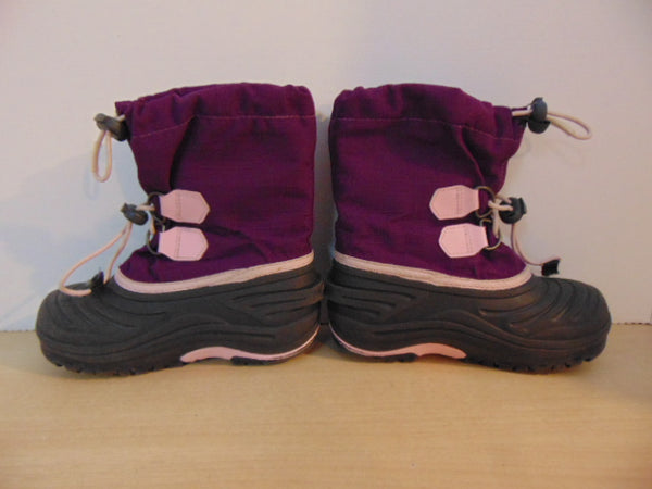 Winter Boots Child Size 11 Sorel Purple Pink With Liner