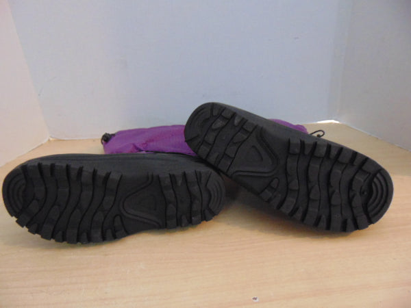 Winter Boots Child Size 3 Outbound Purple and Black With Liners Excellent
