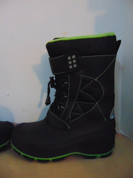 Winter Boots Child Size 3 Sub Zero Black and Lime