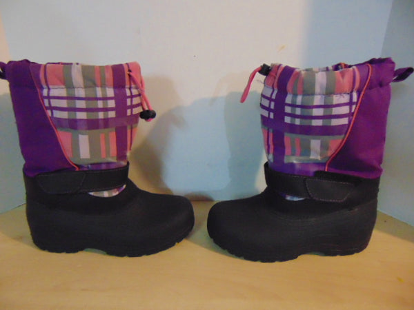 Winter Boots Child Size 4 Pink Purple Canadian