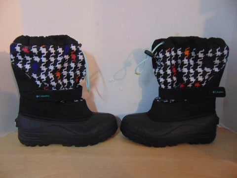 Winter Boots Child Size 5 Columbia Multi Print and Black With Liners New Demo Model