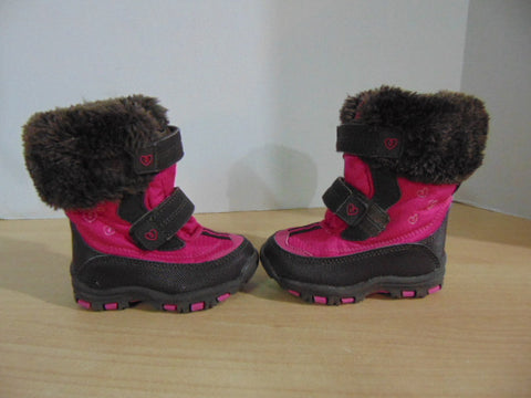 Winter Boots Child Size 5 Infant Toddler Joe Pink Brown