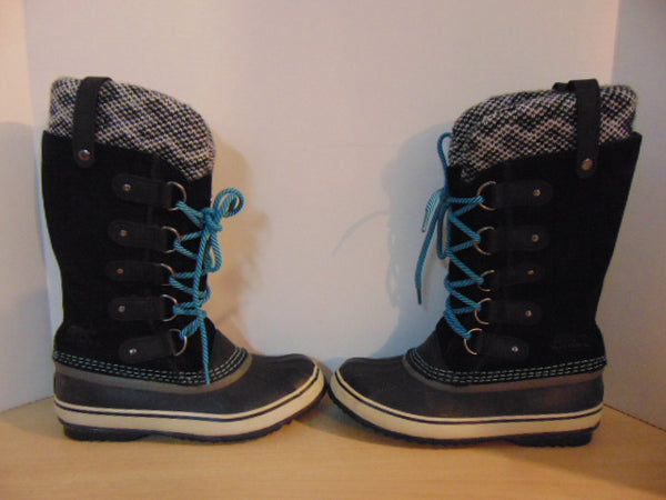Winter Boots Ladies Size 7 Sorel Joan Of Arctic Suade and Rubber Soles With Liner Fantastic Quality Retail 229.00 Nice